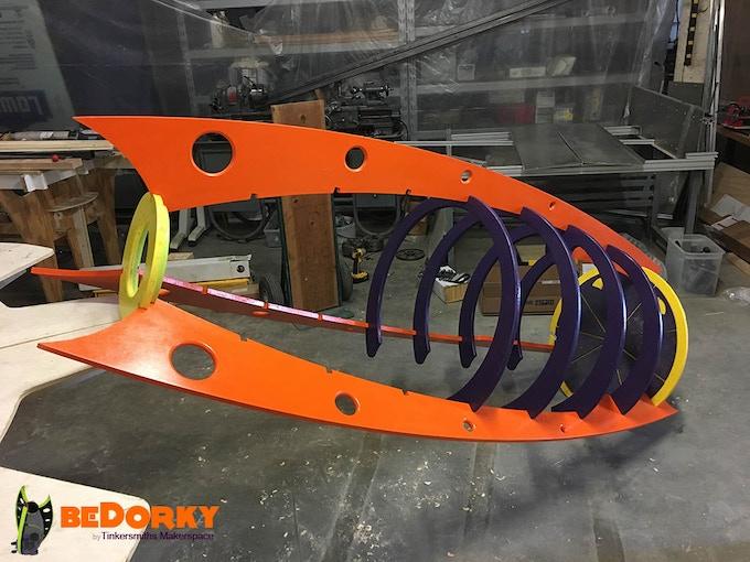 Dorkpod Skeleton Looking Like a Retro Rocket