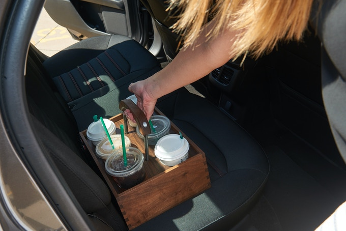 It can be stored in the trunk, on the floor board of your car, or even on the seat for a worry free ride to your destination.