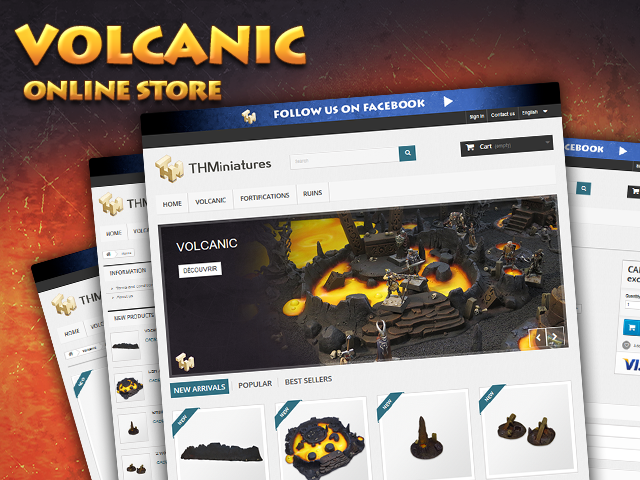 The Volcanic thematic is now available to everyone.Your friends will find every item in our online store