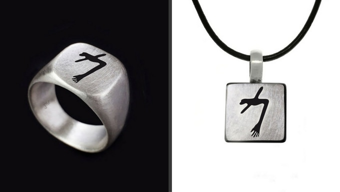 Limited Edition Sterling Silver Glowing Man Ring/Pendant