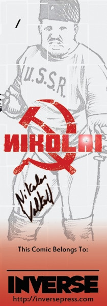 Our NEXT Stretch Goal - A Custom NIKOLAI Bookplate, complete with Autograph by Nikolai Himself!