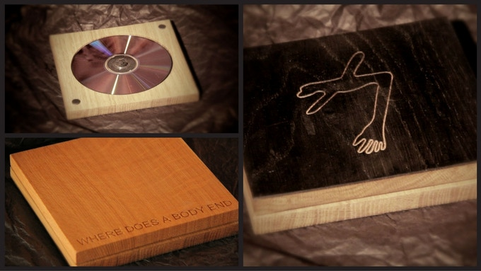 Custom Oak Wood Box containing the DVD/BluRay