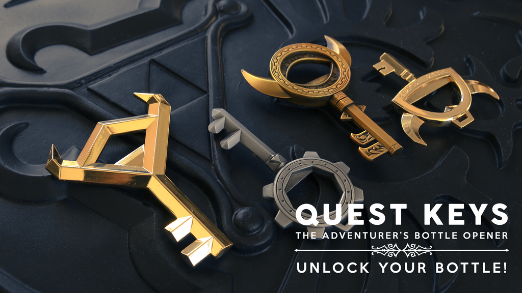 quest keys the adventurer 39 s bottle opener by ai and play kickstarter. Black Bedroom Furniture Sets. Home Design Ideas