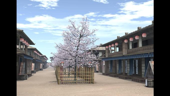 Yoshiwara- Red Light District- Street Overview