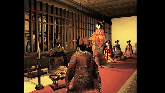 Yoshiwara- Red Light District- Displaying Prostitutes Behind a Grille