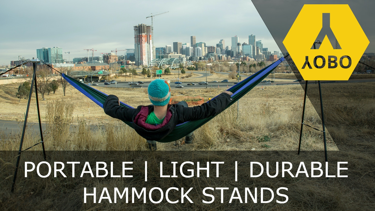 YOBO hammock stands are lightweight, portable, and utilize the highest quality materials to ensure outstanding durability.