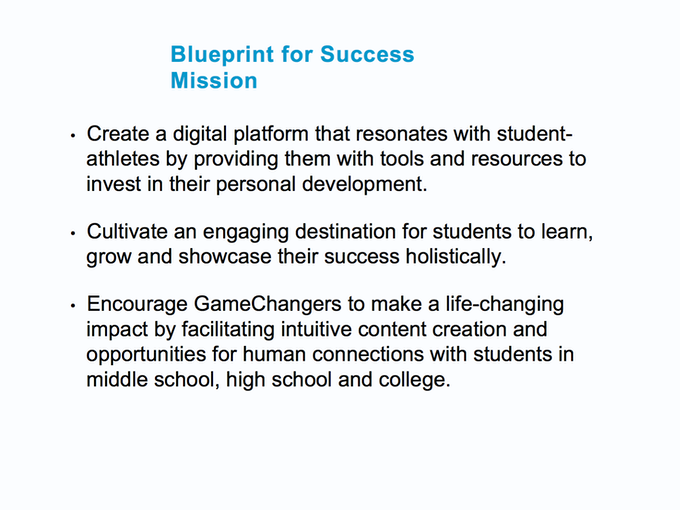 Blueprint for success by blueprint for success donately with your support blueprint for success can become the most significant and impactful programplatform ever for generations of student athletes malvernweather Choice Image