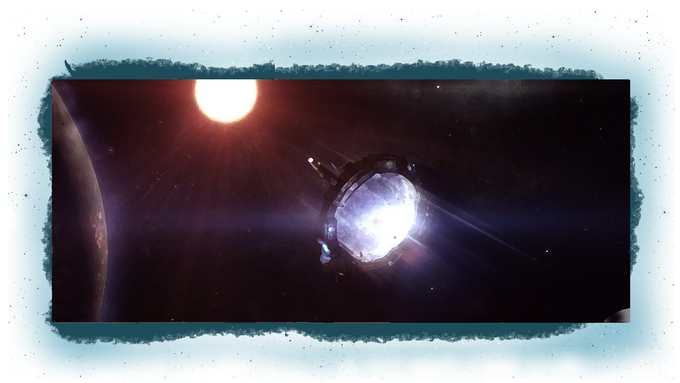 (The first functioning  Space Gate was launched in the year 2402 and connect the Solar system with the Kepler system)