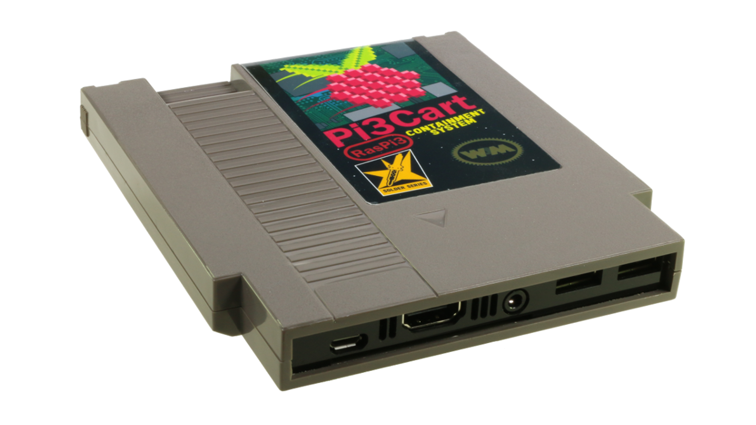 Pi3Cart is a custom kit that allows you to install a Raspberry Pi 3  into any classic NES cartridge.  Perfect for retro game emulators.