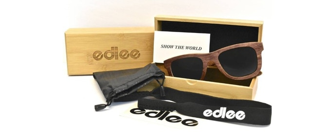 Every pair of edlees come with its signature bamboo wooden carry box and a micro-fiber cloth bag