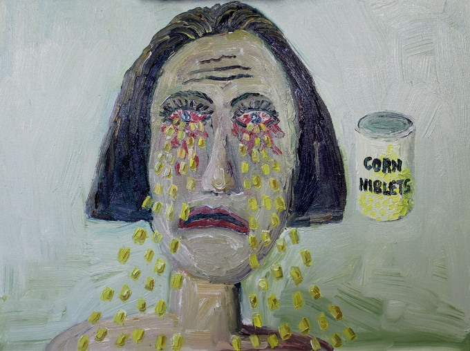 Corn coming out of eyes $300