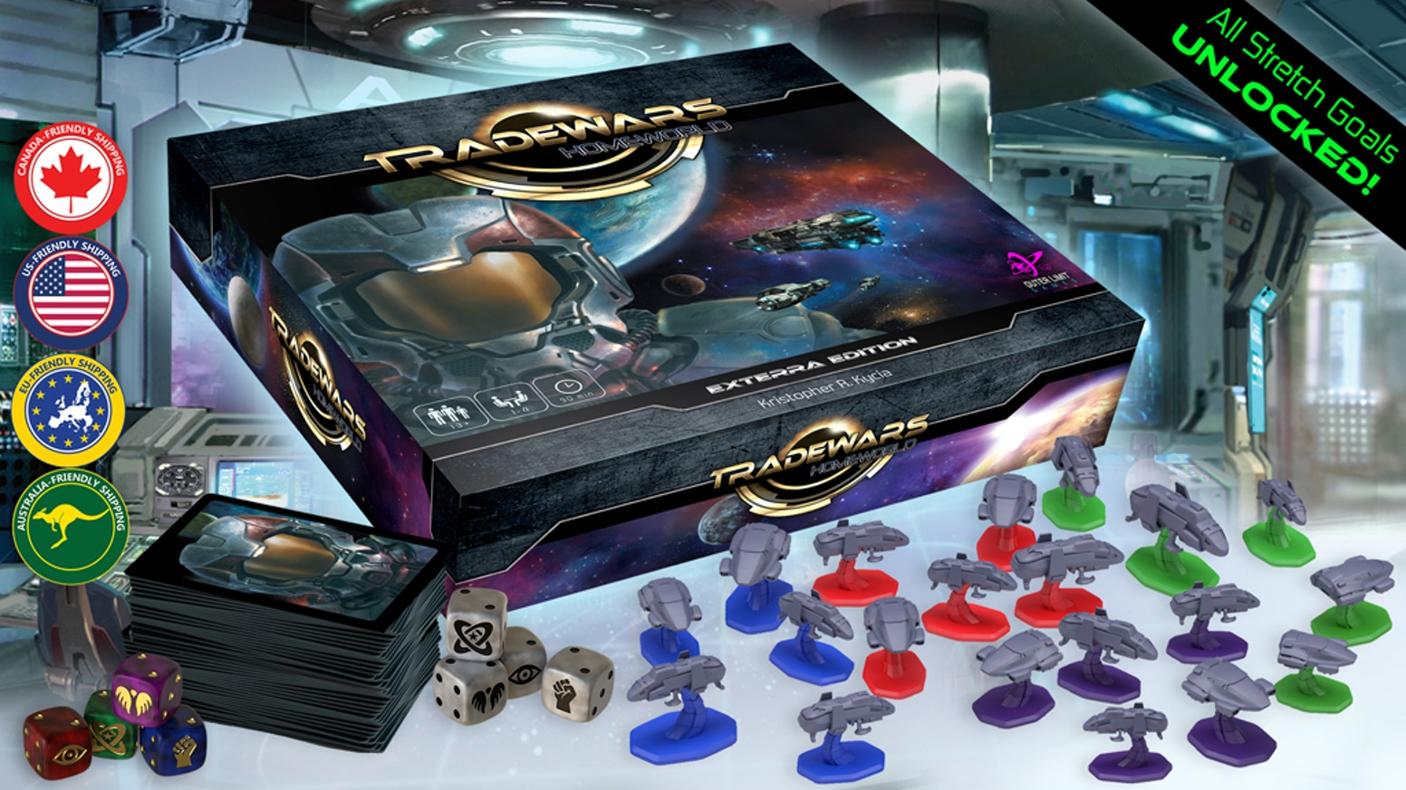 Lead one of the last Terran factions in the galaxy & defend your Homeworld! A role-driven deck-building board game for 1-4 adventurers.