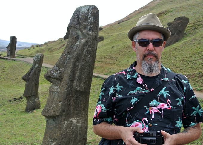 Dr. Alderete at Easter Island (2012)