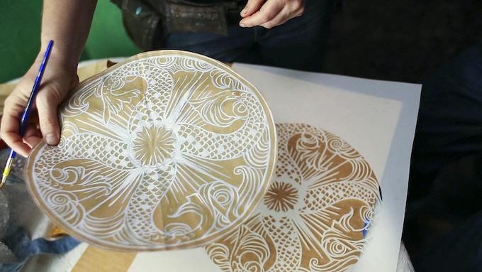$200 - Carved Stone Plate (in progress design pic)
