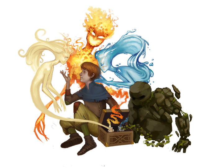 Art Sample of the Blooded Pheonix-Born Race