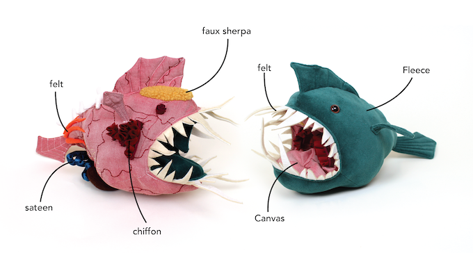 Plush angler fish toy you can turn inside out animal for Angler fish toy