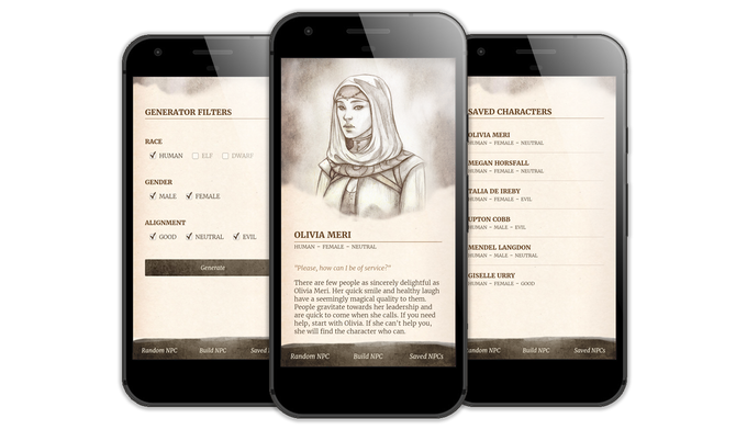 Screenshots from the actual beta app