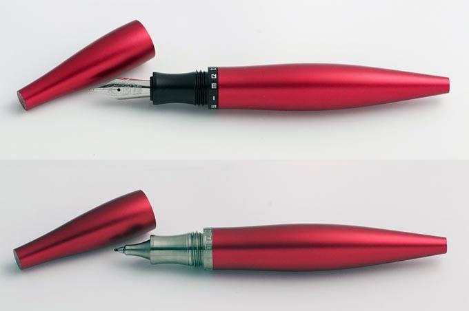 Stylos Red TwoTone Fountain Aluminium, Hybrid Fineliner