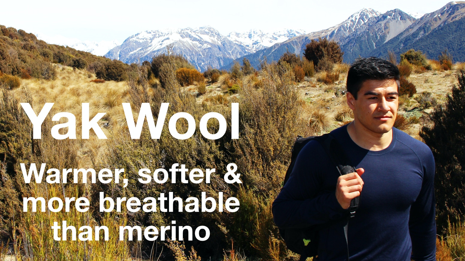 The World's Best Baselayers made with Yak wool from the Tibetan Plateau. Warmer, softer and more breathable than merino wool.