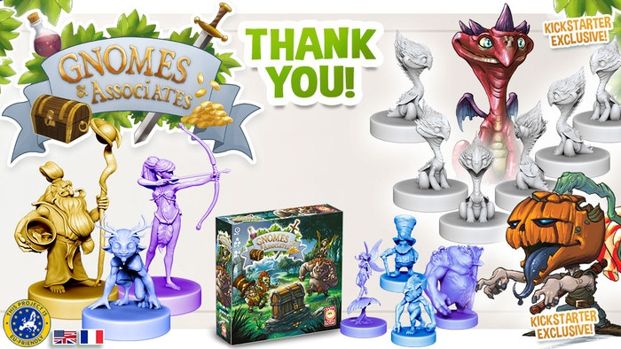 Gnomes & Associates is a  game to discover the world of boardgames - Board Games with miniatures  for all the family as the gamers !