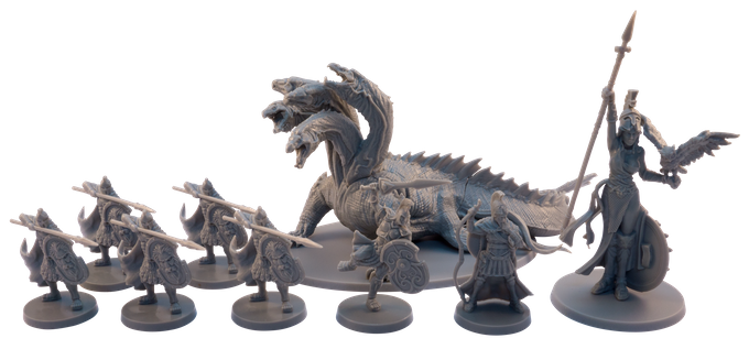 The Gods, monsters, and heroes of Mythic Battles: Pantheon are represented by incredibly detailed miniatures. They'll make your tabletop come alive!