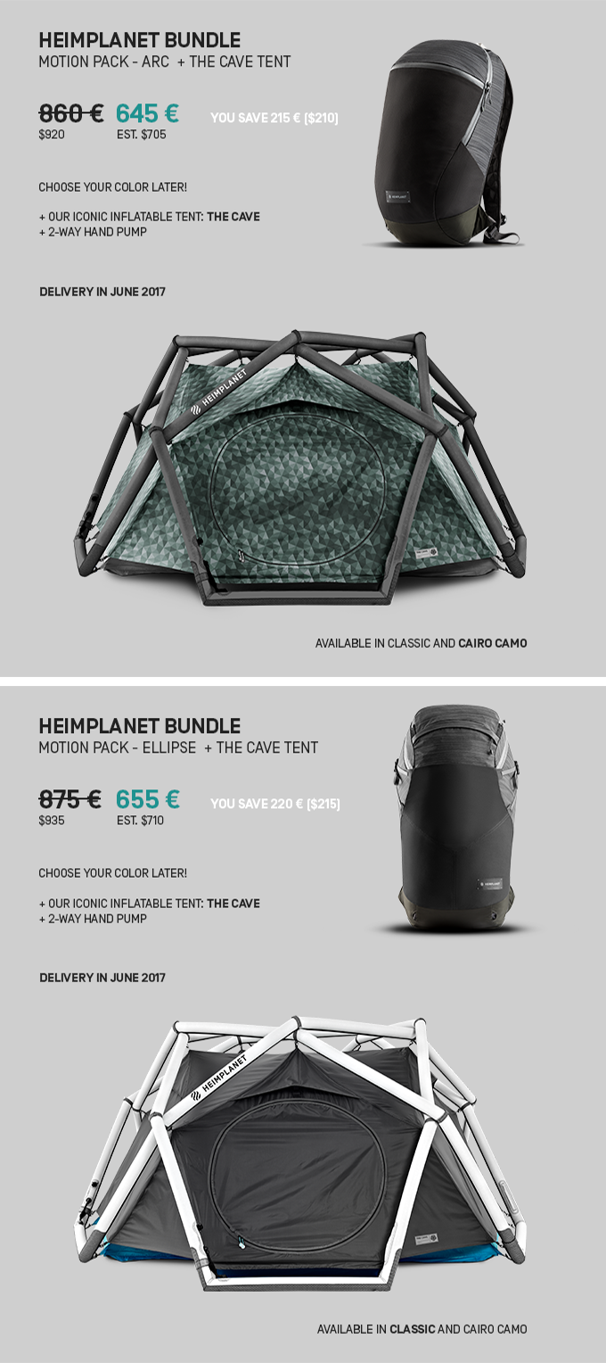 d852d0880a The HEIMPLANET MOTION Series Active Backpacks by HEIMPLANET ...