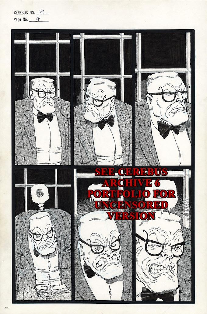 Cerebus No. 139 - Page 4 (Censored)