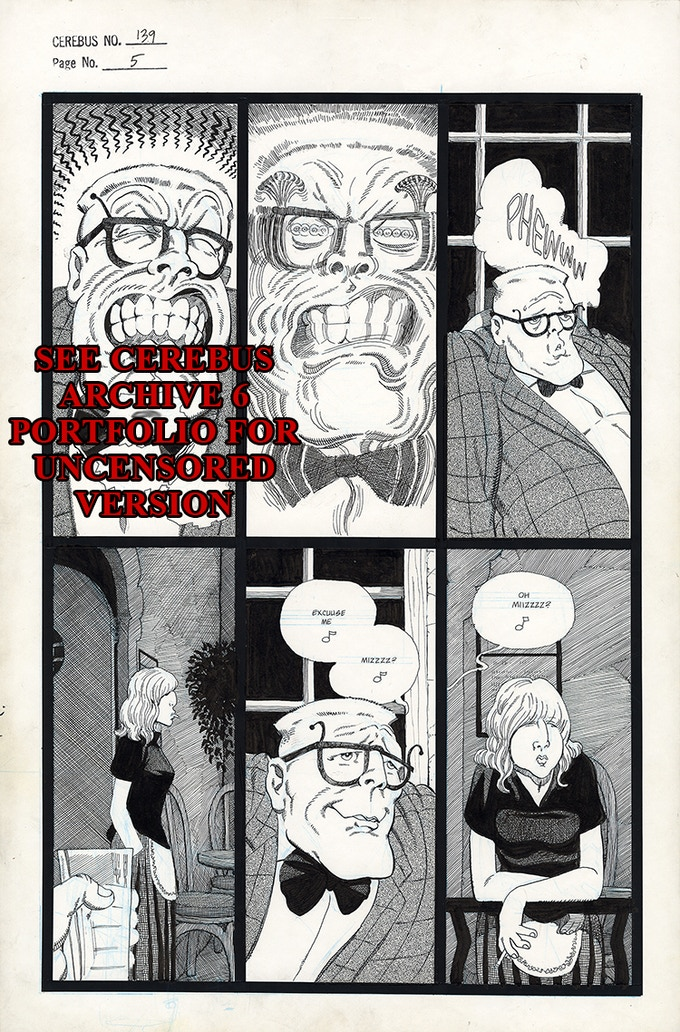 Cerebus No. 139 - Page 5 (Censored)