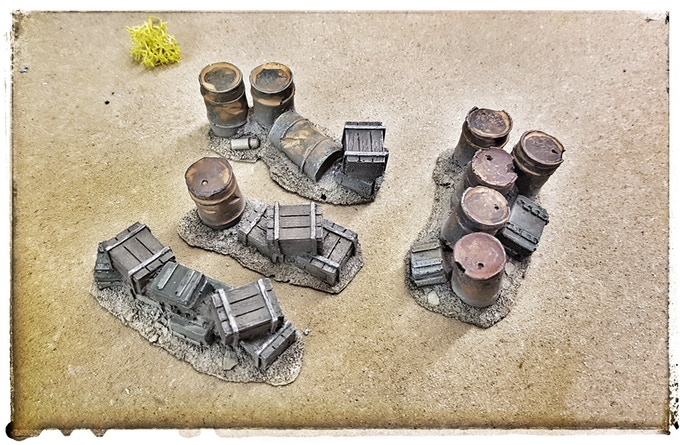 Scrap supply set with bases