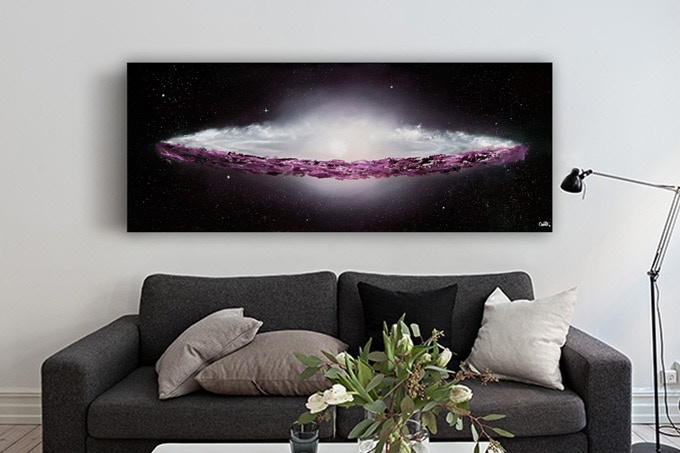 """Sombrero Galaxy"" Oil painting on canvas"