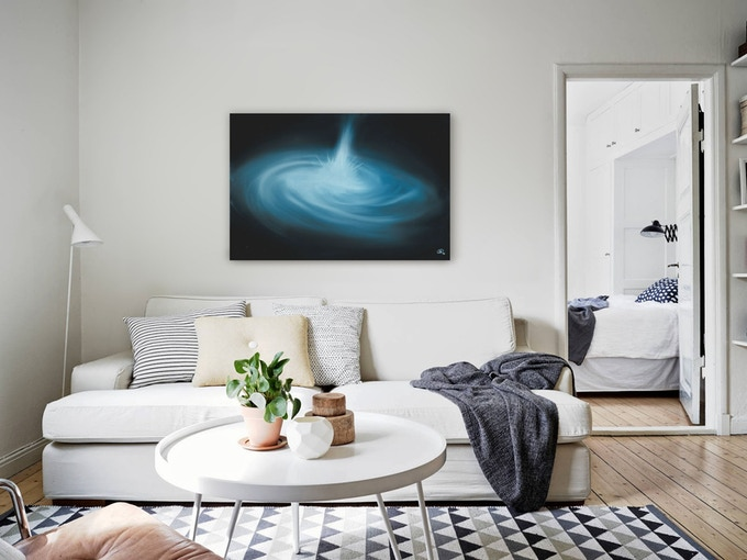"""Blue Quasar"" Oil painting on canvas"