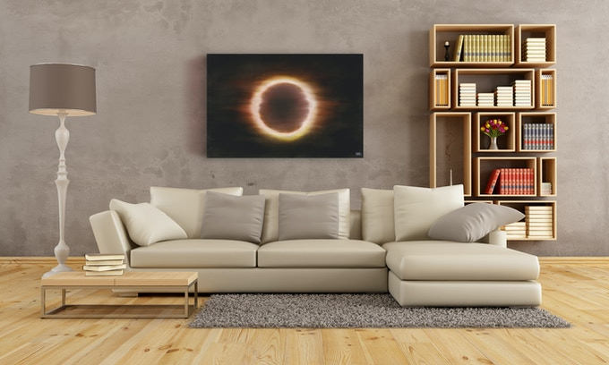 """Solar Skies"" Oil painting on canvas"