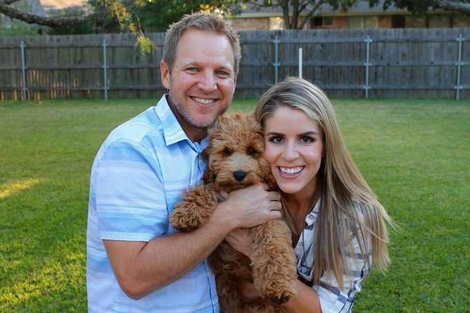 Not much of a team at this point, but here is where it all started. Myself, my beautiful wife (Jenni) and our very lovable puppy (Packer).