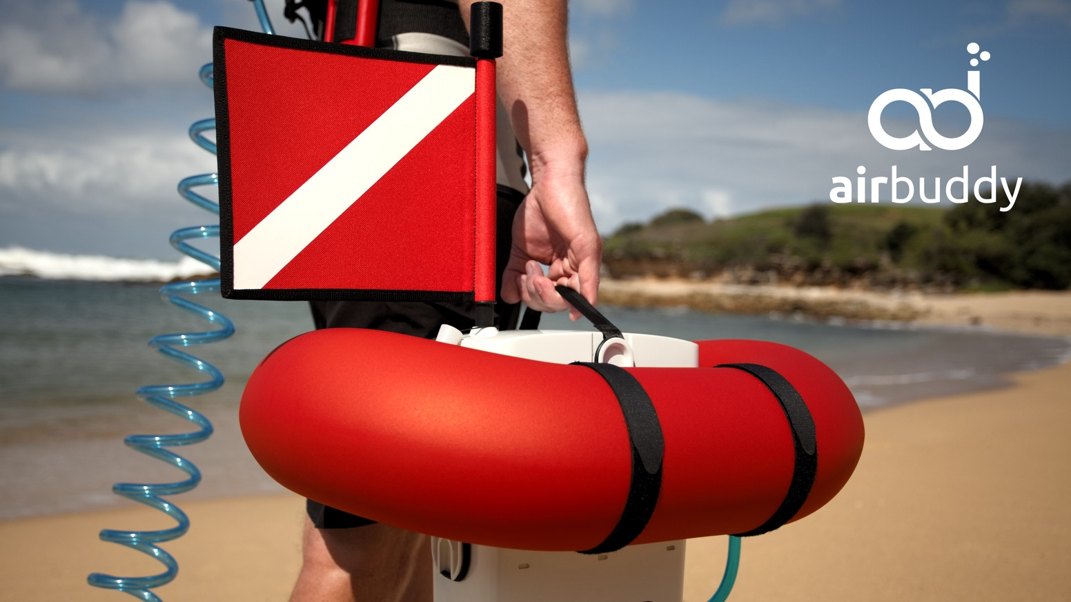 World's smallest diving gear. AirBuddy does not require any air tanks, yet enables diving for 45 minutes up to 12 meters (40ft) deep.