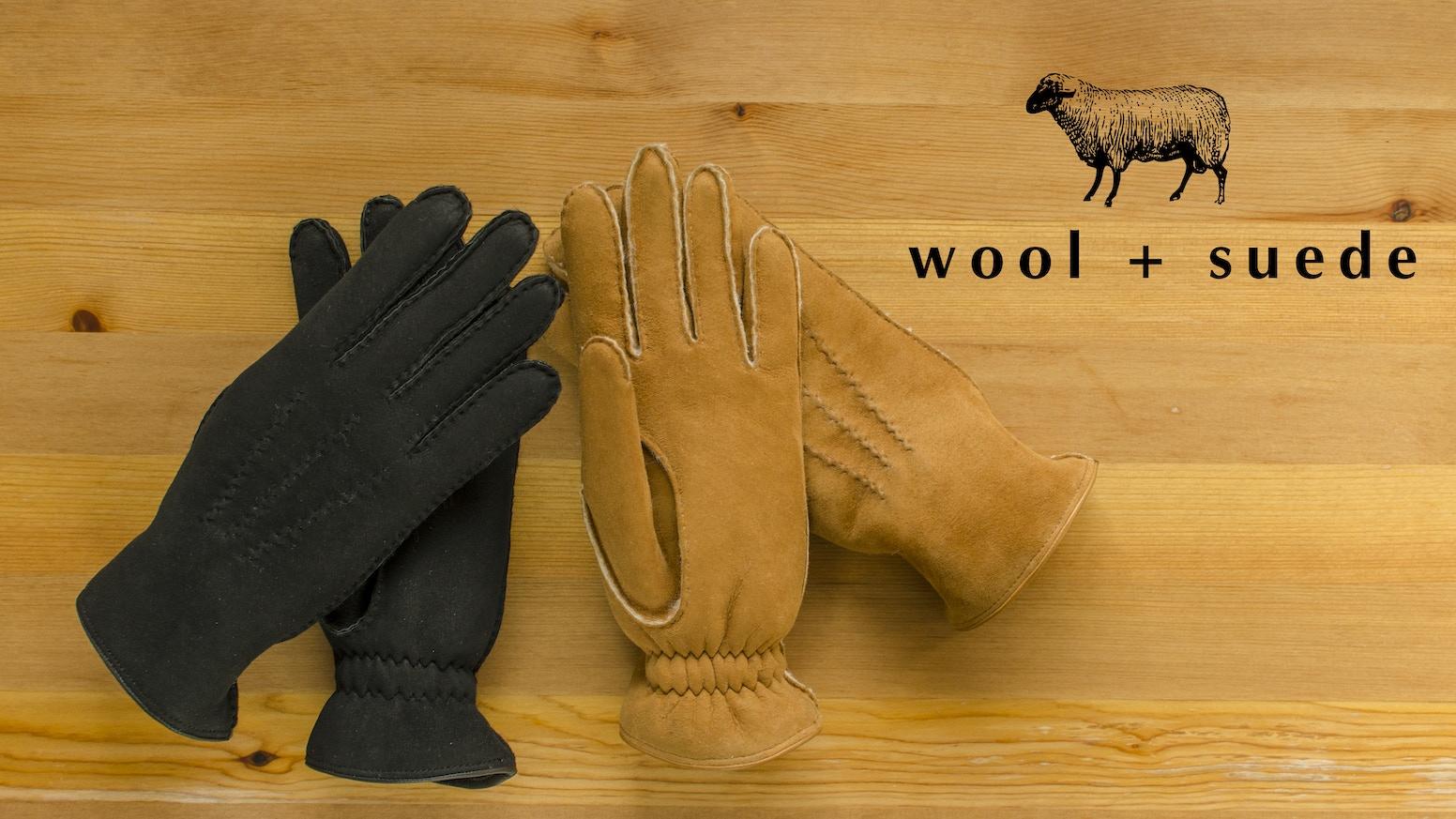 wool + suede | redefining warm and stylishwinter glovesfor the modern man