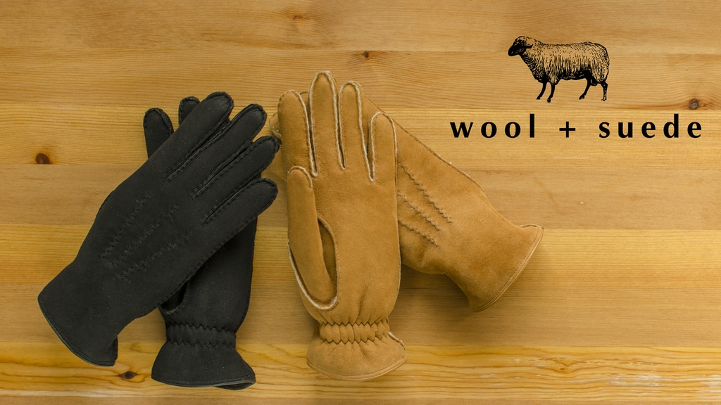 wool + suede | redefining warm and stylish winter gloves project video thumbnail