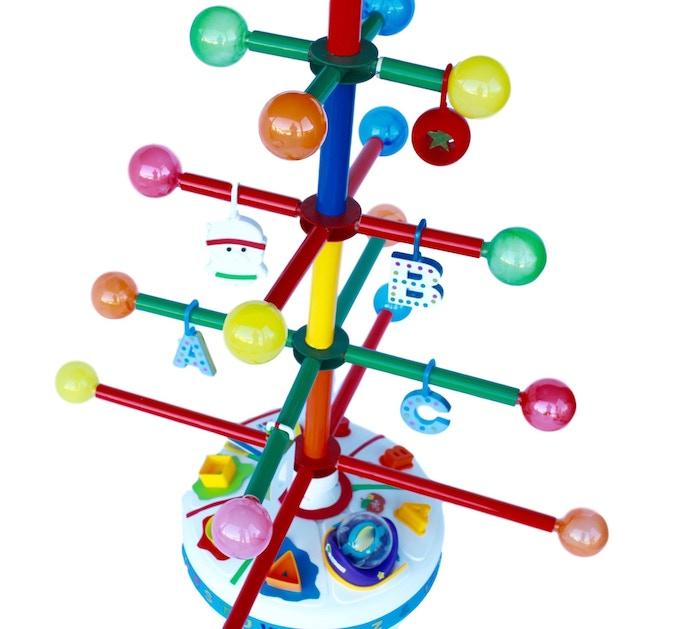 "Multicolored ""light-balls"" and safe ""E-Z Hang"" ornaments"