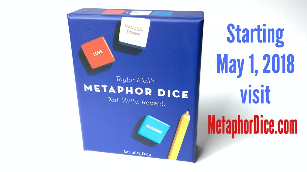 Metaphor Dice: Teach Poetry Great Again! by Taylor Mali — Kickstarter