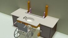 Adjustable bathroom sink for seniors, disabled and children