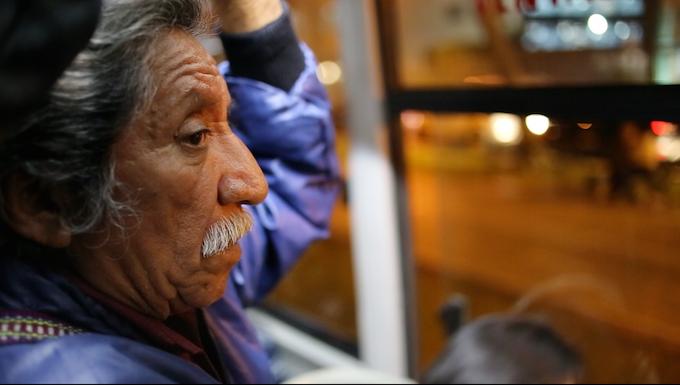 Gustavo Huchín en Lima, Perú, rumbo a conferencia internacional de indígenas latinoamericanos.