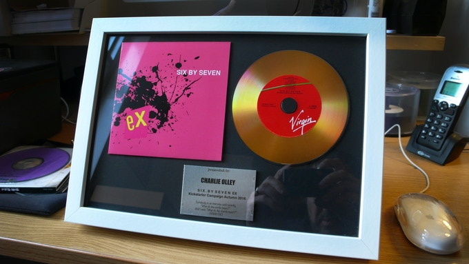 Luxury Framed Gold Disc with your name inscribed! Hang it on your wall or put it on your desk (comes with stand)