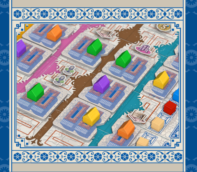 The streets of the Lisboa gameboard