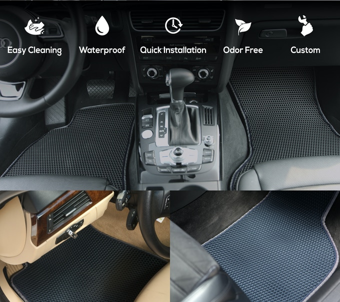 Trapmats The World S First Easy Clean Dual Car Mats By