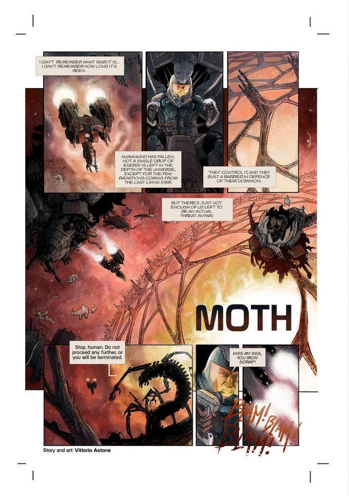 Moth by Vittorio Astone, from Heavy Metal Magazine