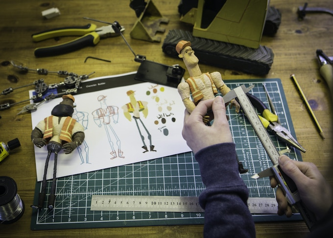 Have your own puppet designed and built to appear in the film