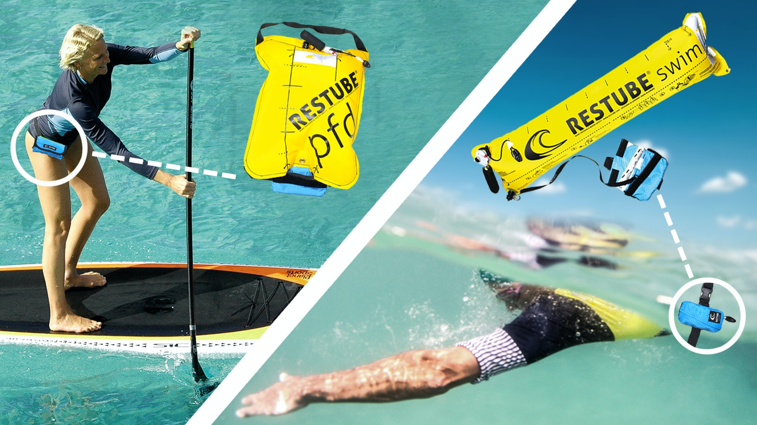 Ultralite Inflatable Life Jacket and Swim Tube by Restube