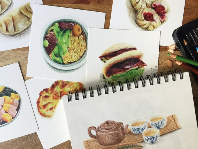 #100daysians food prints