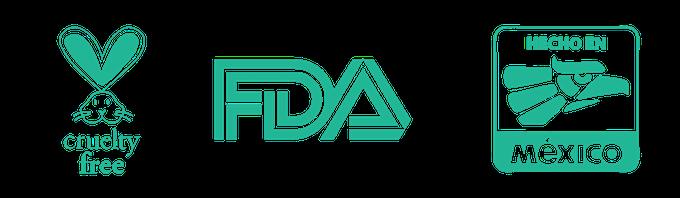 Cruelty free - FDA - Made in Mexico