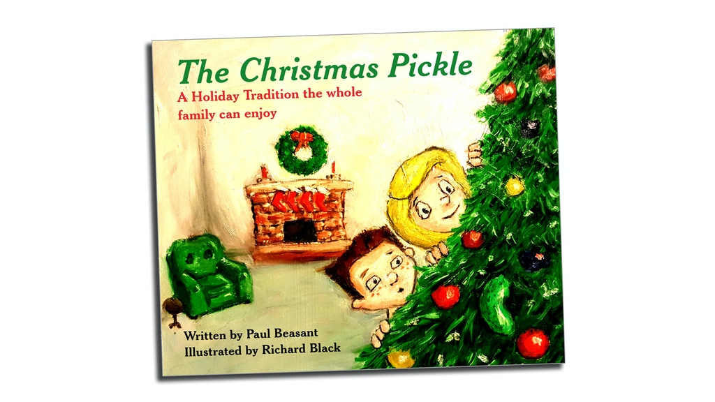 It is a graphic of Astounding Christmas Pickle Story Printable