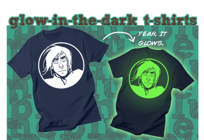 Glow-in-the-Dark Corrick t-shirt is now a wardrobe option.